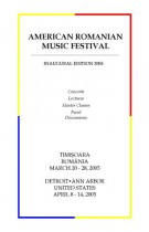 American Romanian Festival 2005 Program Book